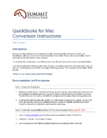 Conversion Instructions: QuickBooks for Mac